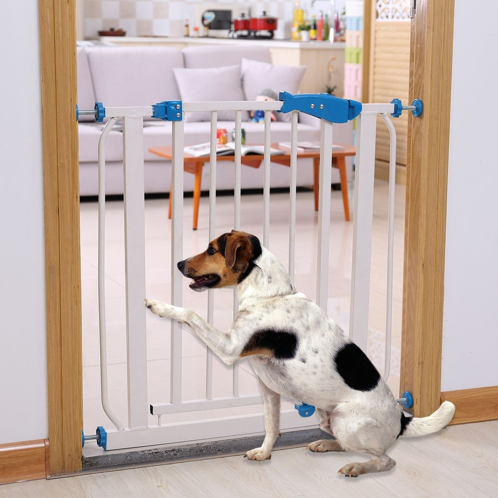 Baby Safety Gate Stairs Door Walk Through Child Toddler Pet Protective Fence Metal Easy Locking System No Drilling Holes