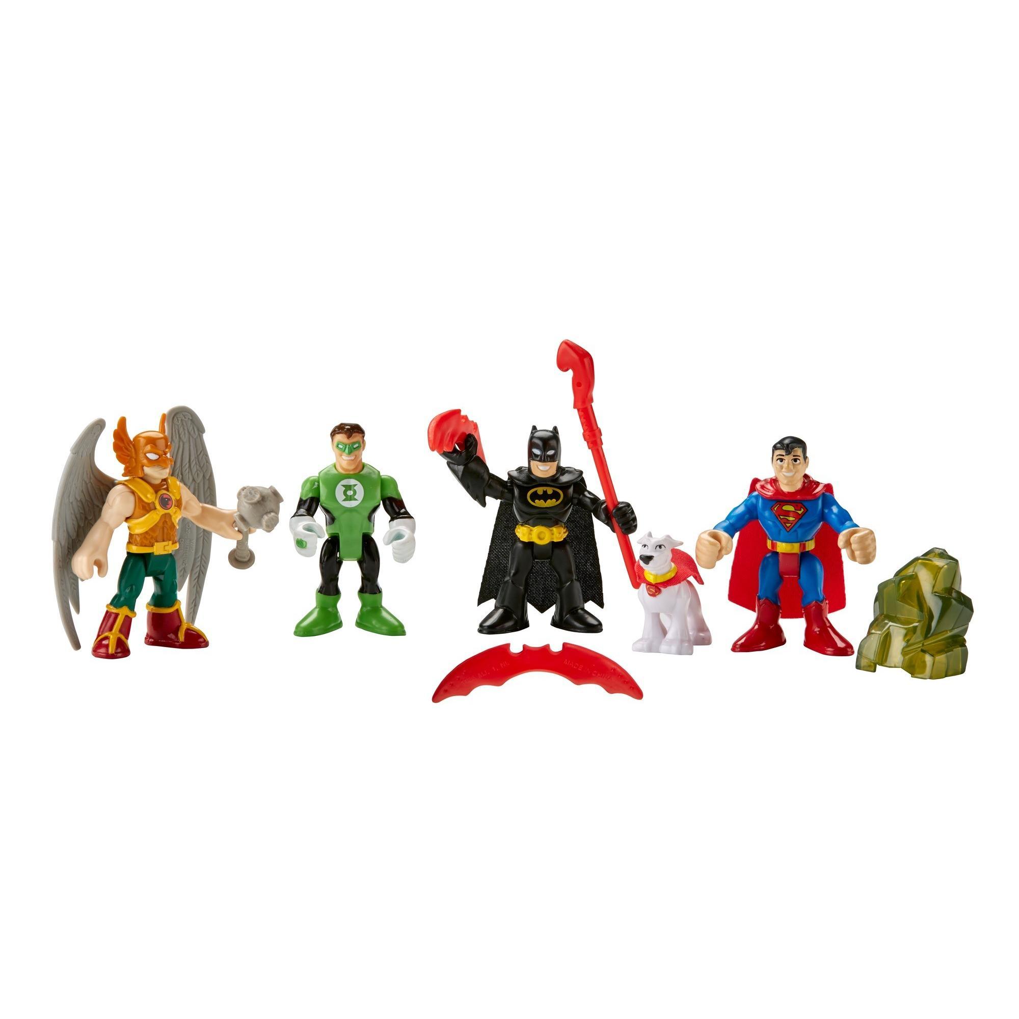 Imaginext DC Super Friends Heroes Action Figures Play Set