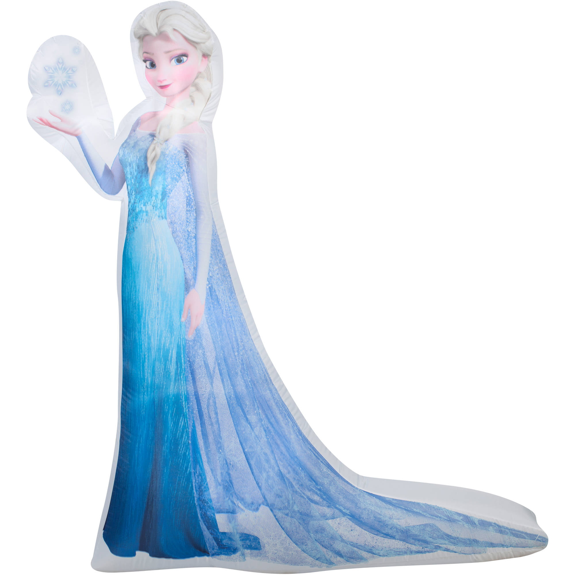 5 airblown inflatable photorealistic elsa with snowflake disney christmas inflatable walmartcom