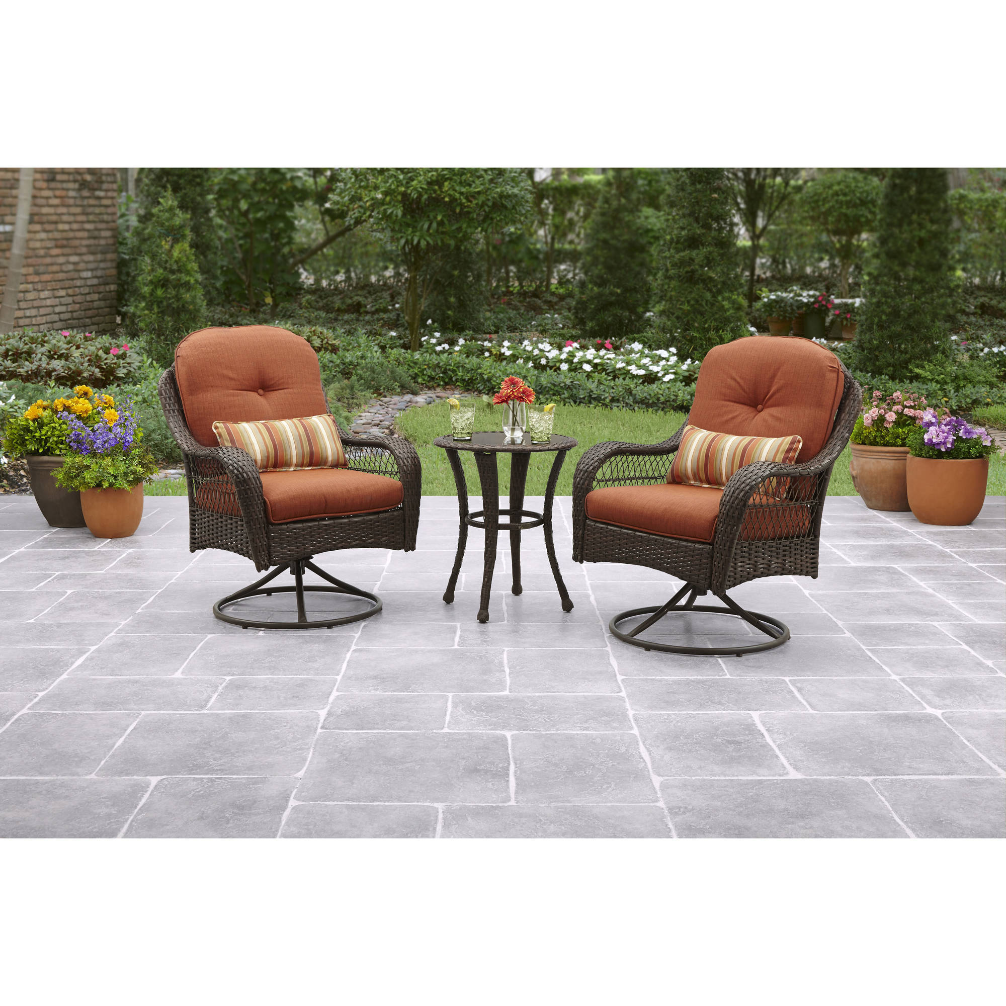 better homes and gardens azalea ridge 3piece outdoor bistro set seats 2 walmartcom - Cheap Patio Sets
