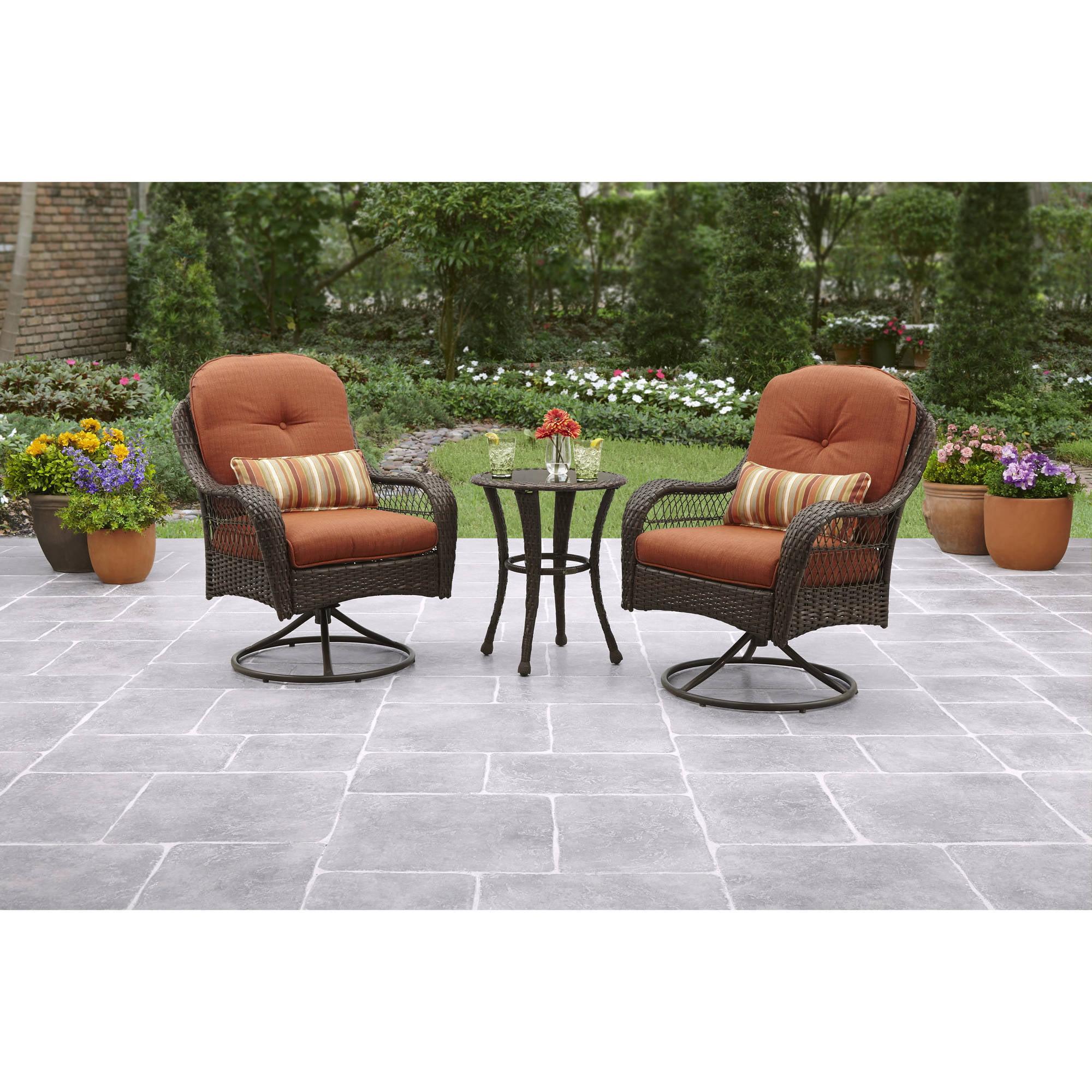 Better Homes and Gardens Azalea Ridge 3-Piece Outdoor Bistro Set, Seats 2
