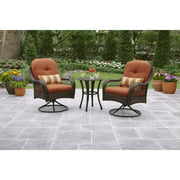 Better Homes and Gardens Azalea Ridge 3-Piece Outdoor Bistro Set, Seats 2
