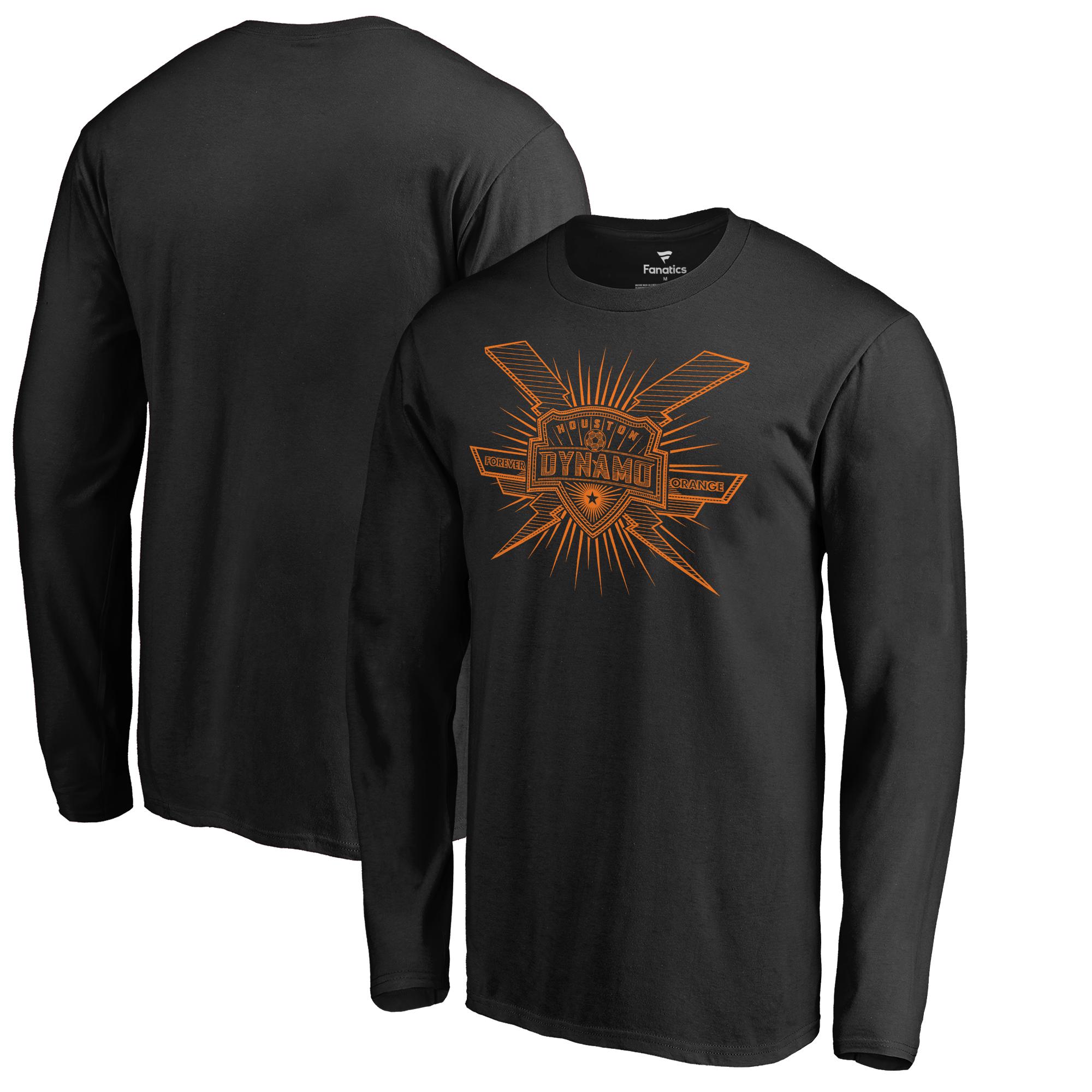 Houston Dynamo Fanatics Branded Lined Long-Sleeve T-Shirt - Black