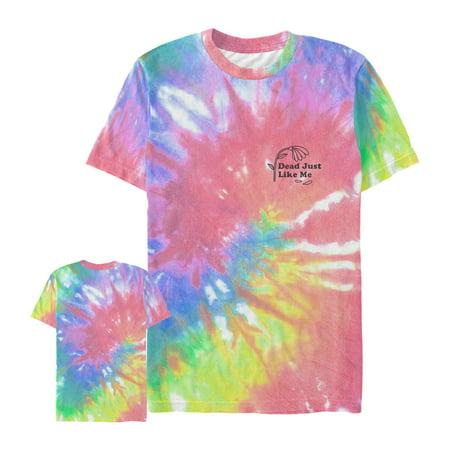 57782dc5f943 Lost Gods - Men s Dead Like Me Flower Tie-Dye Print All-Over Print T-Shirt  - Walmart.com