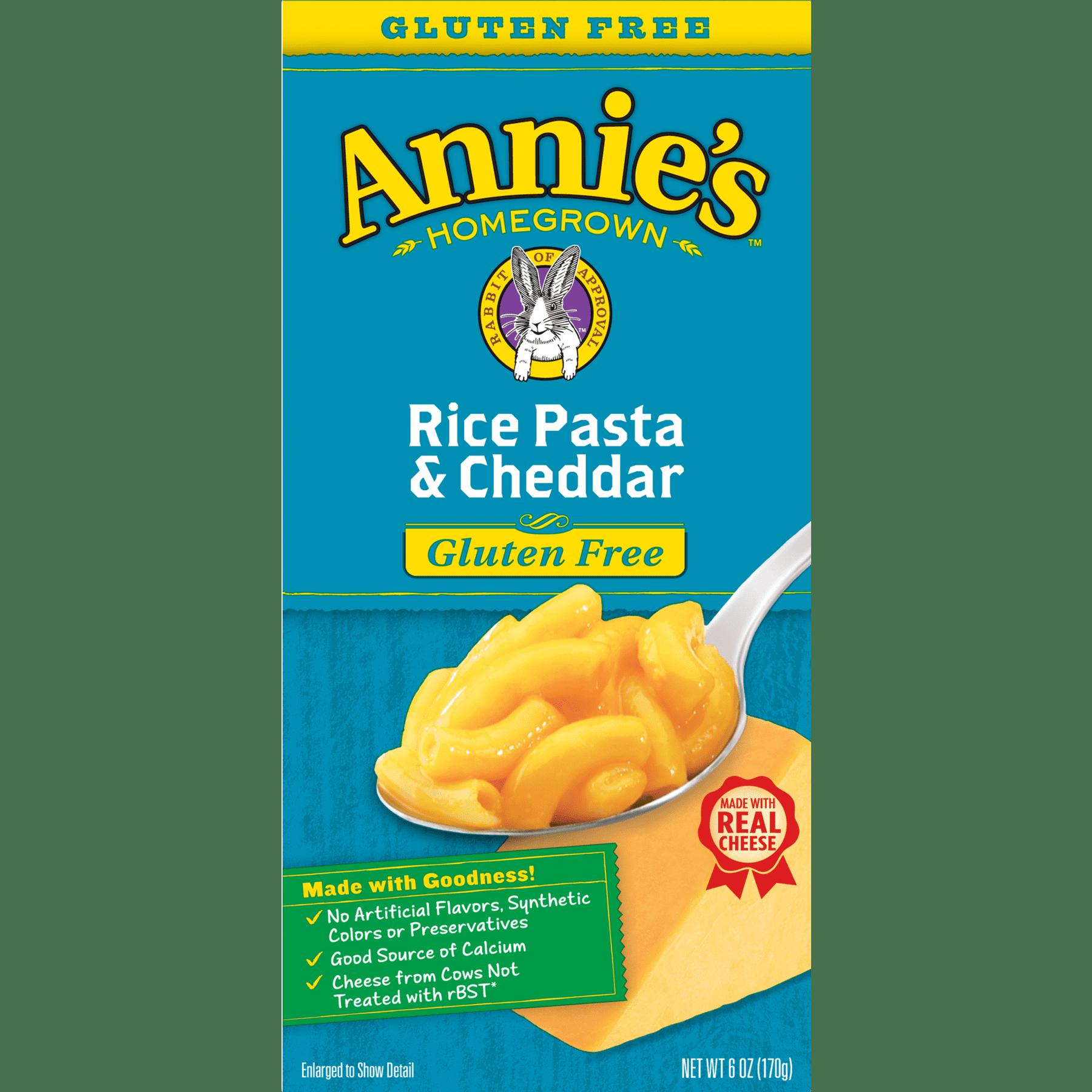 Annie\'s Gluten Free Macaroni and Cheese, Rice Pasta & Cheddar Mac ...
