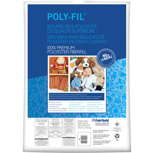 Poly-Fil 100% Premium Polyester Fiber Fill 50 oz bag