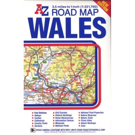 Wales Road Map (A-Z) (Map)