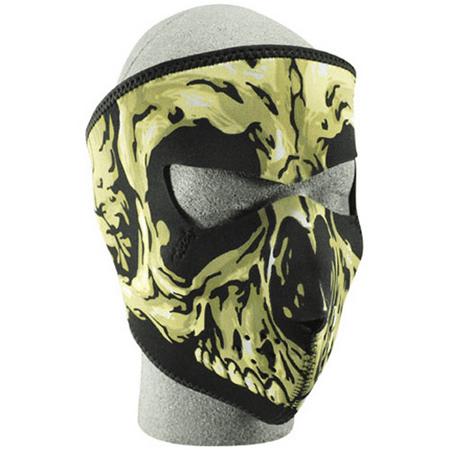 NEOPRENE FACE MASK, SKULL (Neoprene Biker Face Mask)