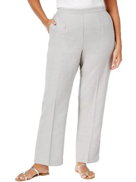 d37f87f2135 Product Image Alfred Dunner Womens Plus Solid Flat Casual Pants
