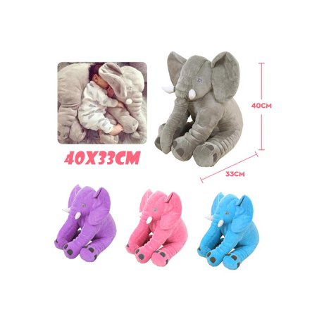 40x33cm Long Nose Elephant Plush Lumbar Cushion Soft