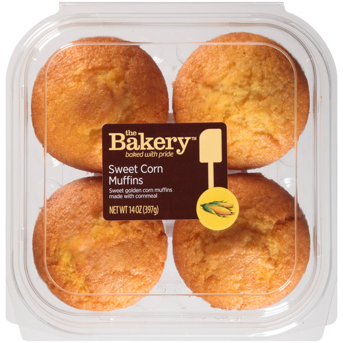 The Bakery Sweet Corn Muffins, 4 count, 14 oz