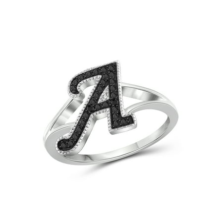 JewelersClub Black Diamond Sterling Silver Initial Spell It Out - Black Diamond Camalot