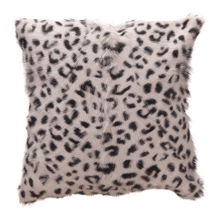 Leopard Finish - Moe's Home Spotted Goat Fur Pillow Leopard With Light Grey Finish XU-1017-29