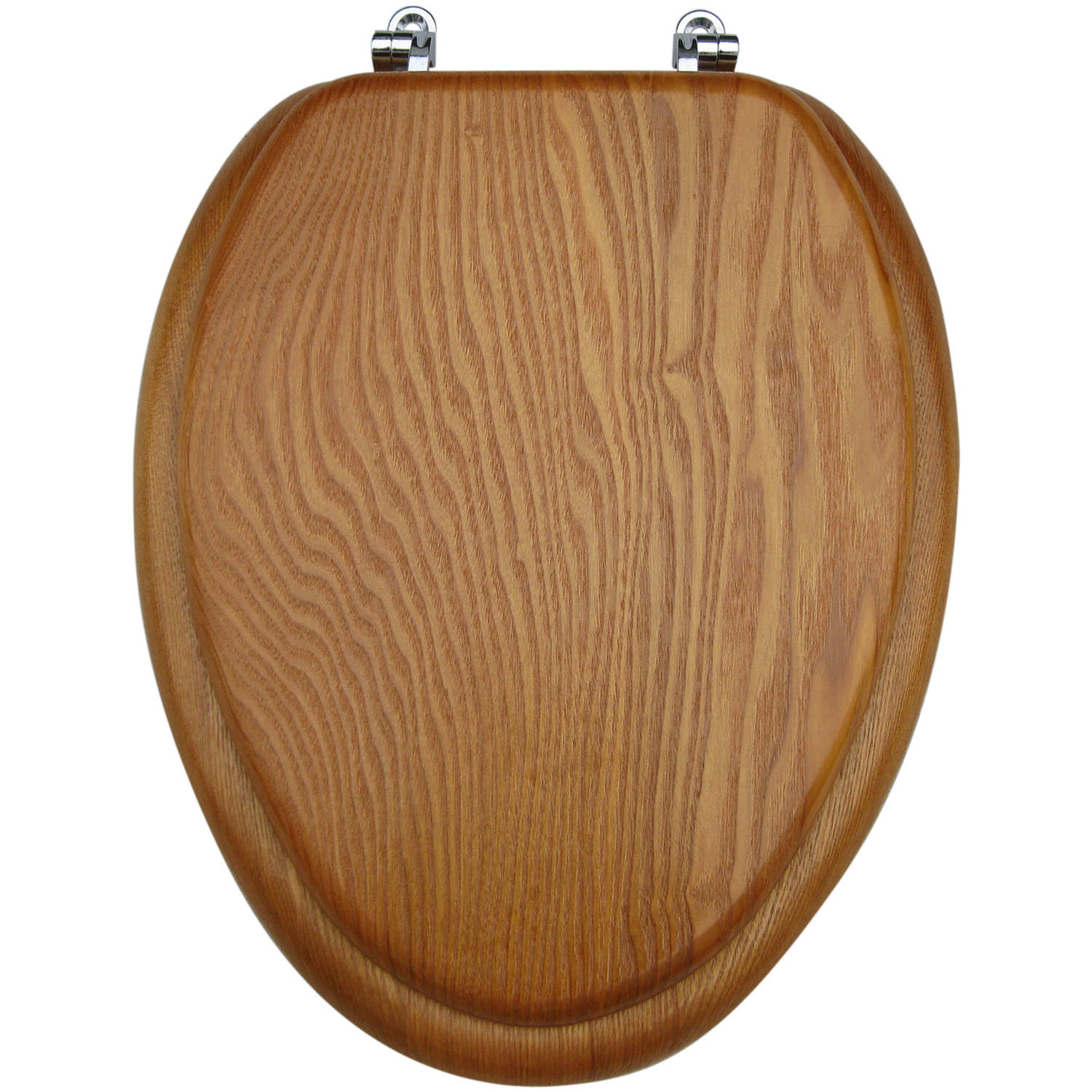wooden toilet seat hinges.  Mainstays Medium Oak Elongated Toilet Seat Walmart com