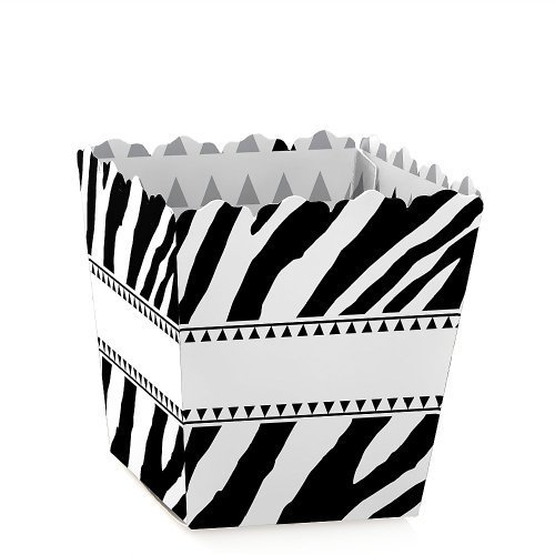 Zebra - Party Mini Favor Boxes - Baby Shower, Birthday or Bridal Shower Treat Candy Boxes - Set of 12