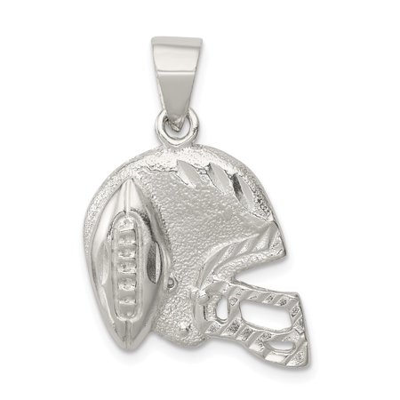 - 925 Sterling Silver Polished Football and Helmet Pendant