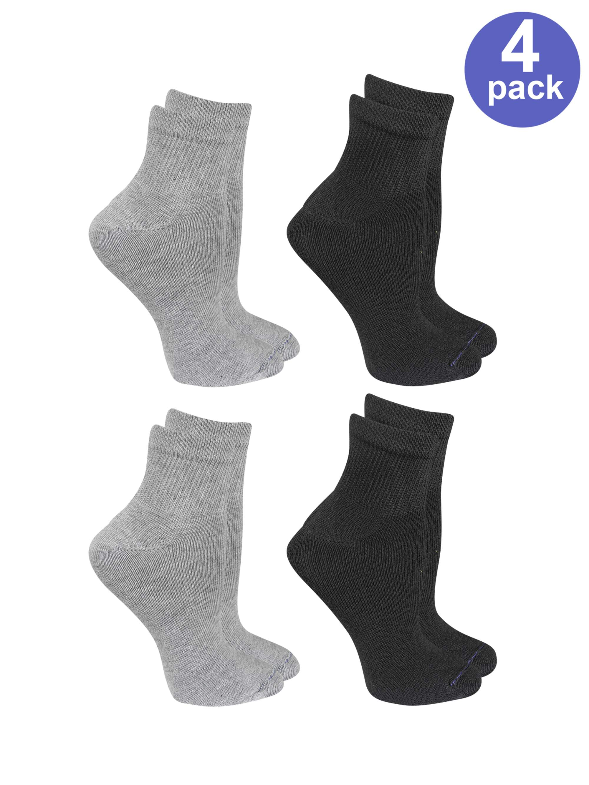 Women's Relaxed Fit Ankle Socks 4 Pair