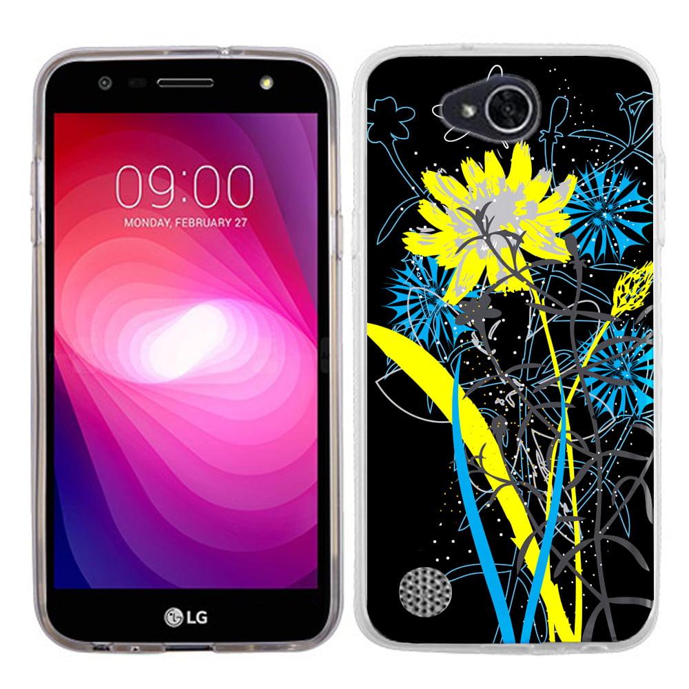 Slim Case for LG X Power 2 / LG Fiesta 4G LTE, OneToughShield ® Premium TPU Gel Phone Case - (Wild Flowers)