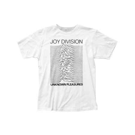 Joy Division Rock Band Unknown Pleasures White Adult Fitted Jersey T-Shirt (Joy Division Unknown Pleasures T Shirt American Apparel)