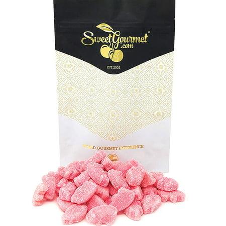 - SweetGourmet Mini Gummy Pigs | Sour Strawberry Flavored Piglets | Candy Bulk | 15oz