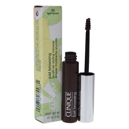 Just Browsing Brush-On Styling Mousse - # 02 Light Brown by Clinique for Women - 0.07 oz Eyebrow Mousse - image 1 of 1