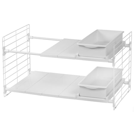 IRIS Under Sink Organizer with 2 Drawers, White