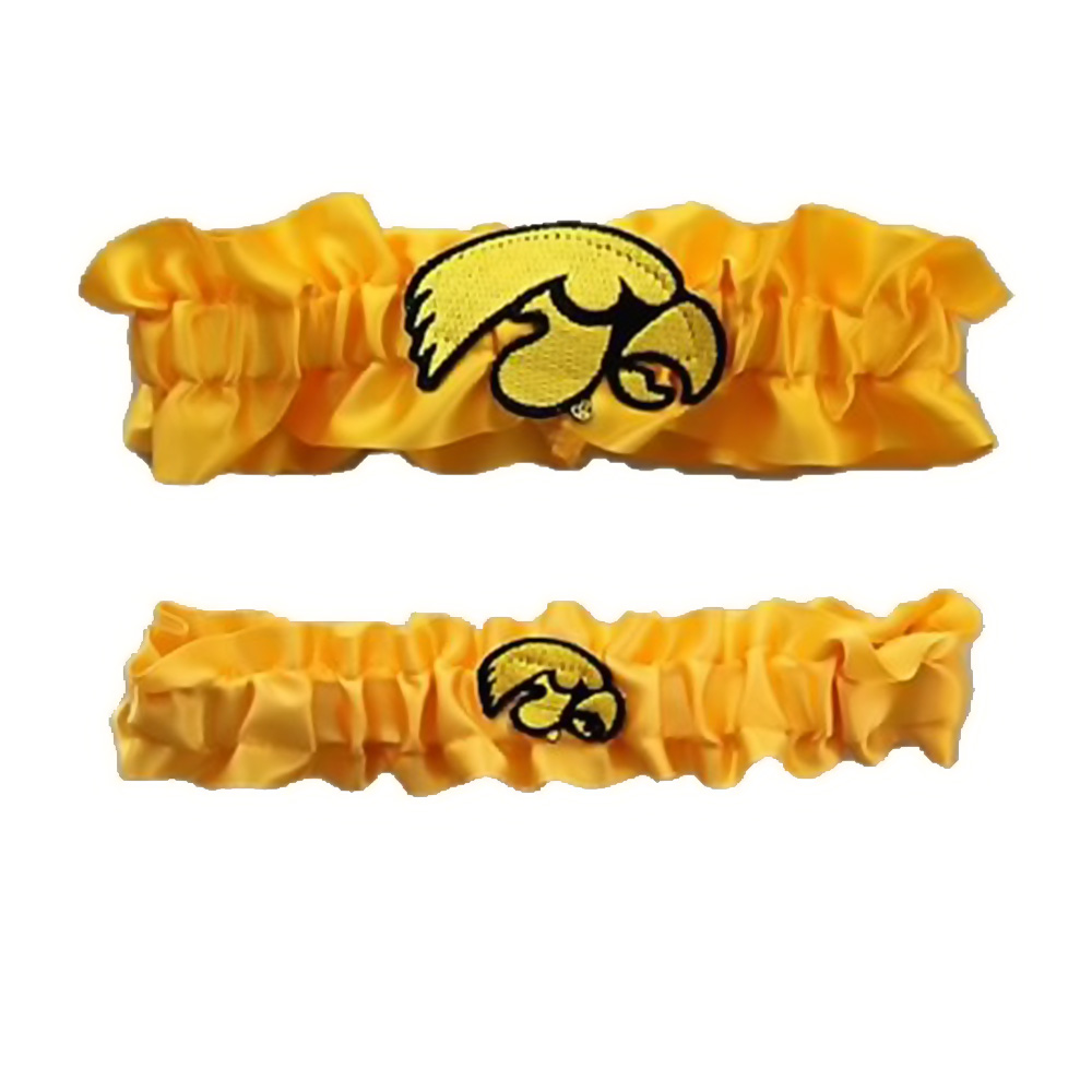 Divine Creations DVC-G721-IOW-YWYW Iowa Hawkeyes Ncaa Garter Set One To Keep One To Throw [yellow/yellow]