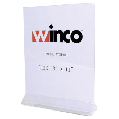 Winware by Winco ATCH-811 Table Card Holder, Acrylic, 8
