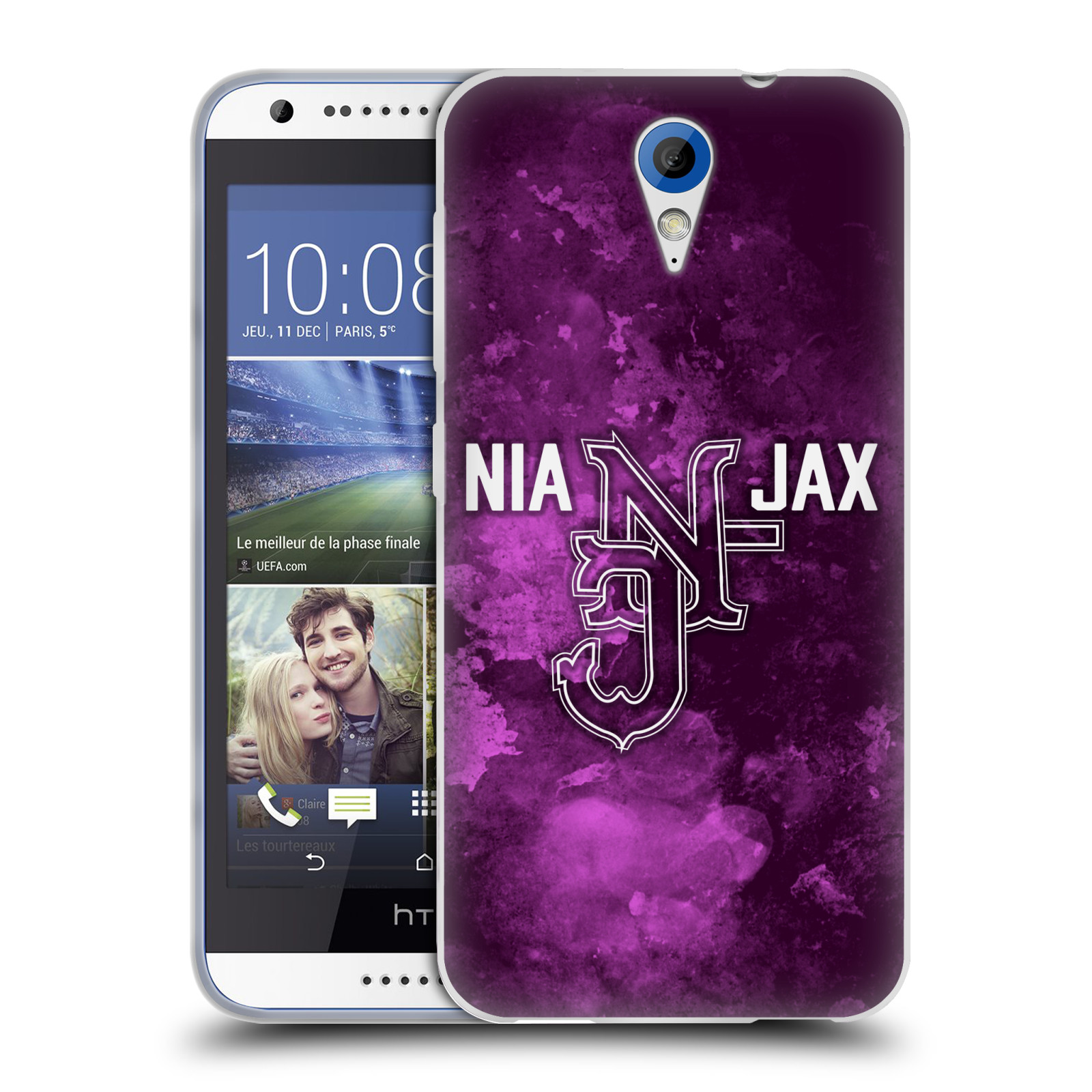 OFFICIAL WWE NIA JAX SOFT GEL CASE FOR HTC PHONES 1