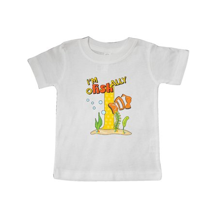 I'm O-Fish-Ally One cute clownfish first birthday Baby T-Shirt Cute Baby Hands Tee