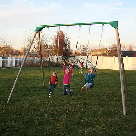 Lifetime 10-Foot Metal Deluxe Swing Set, Earthtone, 290038