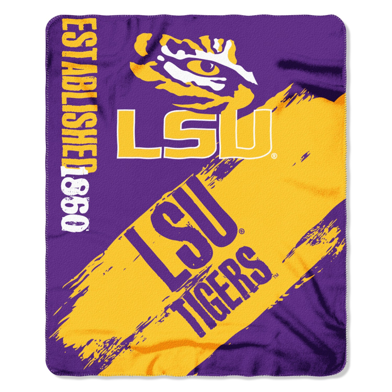LSU Tigers Painted Fleece Throw