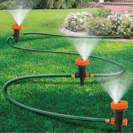 Portable Sprinkler System w/ Set of 3 Sprinkler Heads (Sprinkler System Timers)