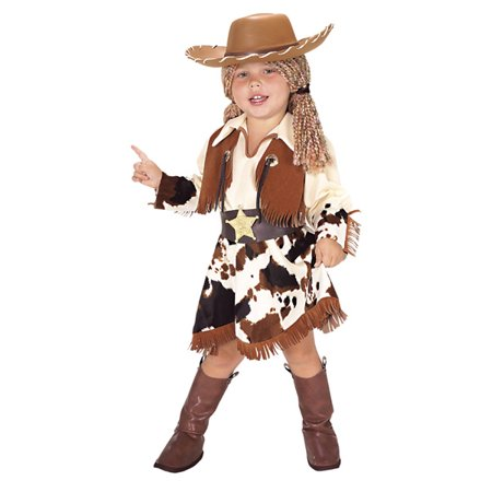 Kids Halloween Costumes - Cowgirl Costume With Hat  SML - Cowgirl Halloween Costume Kids