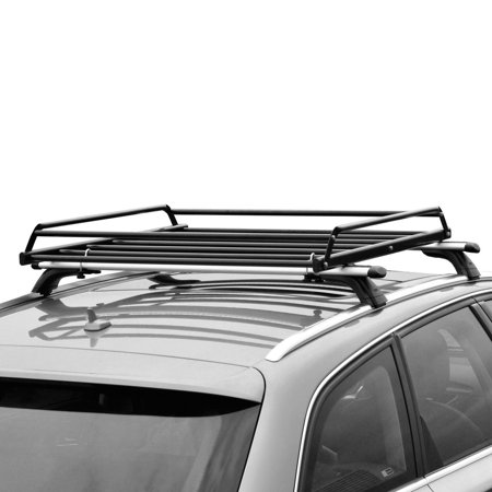 Basic Car Roof tray platform rack carry box luggage carrier basket +  Net Cover (Roof Rack Carrier)