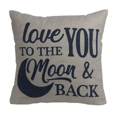 Mainstays Love You To The Moon And Back Decorative Throw
