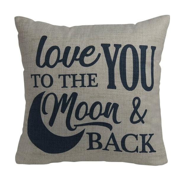 Mainstays Love You To The Moon And Back Decorative Throw Pillow Walmart Com Walmart Com