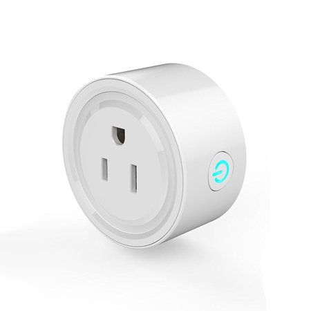 Smart Wifi Voice/Remote Control Plug Outlet Compatible with Alexas, Mini Wifi Socket Plug Timing Function No Hub Required Control Home Appliances from Anywhere for iOS Android Phone