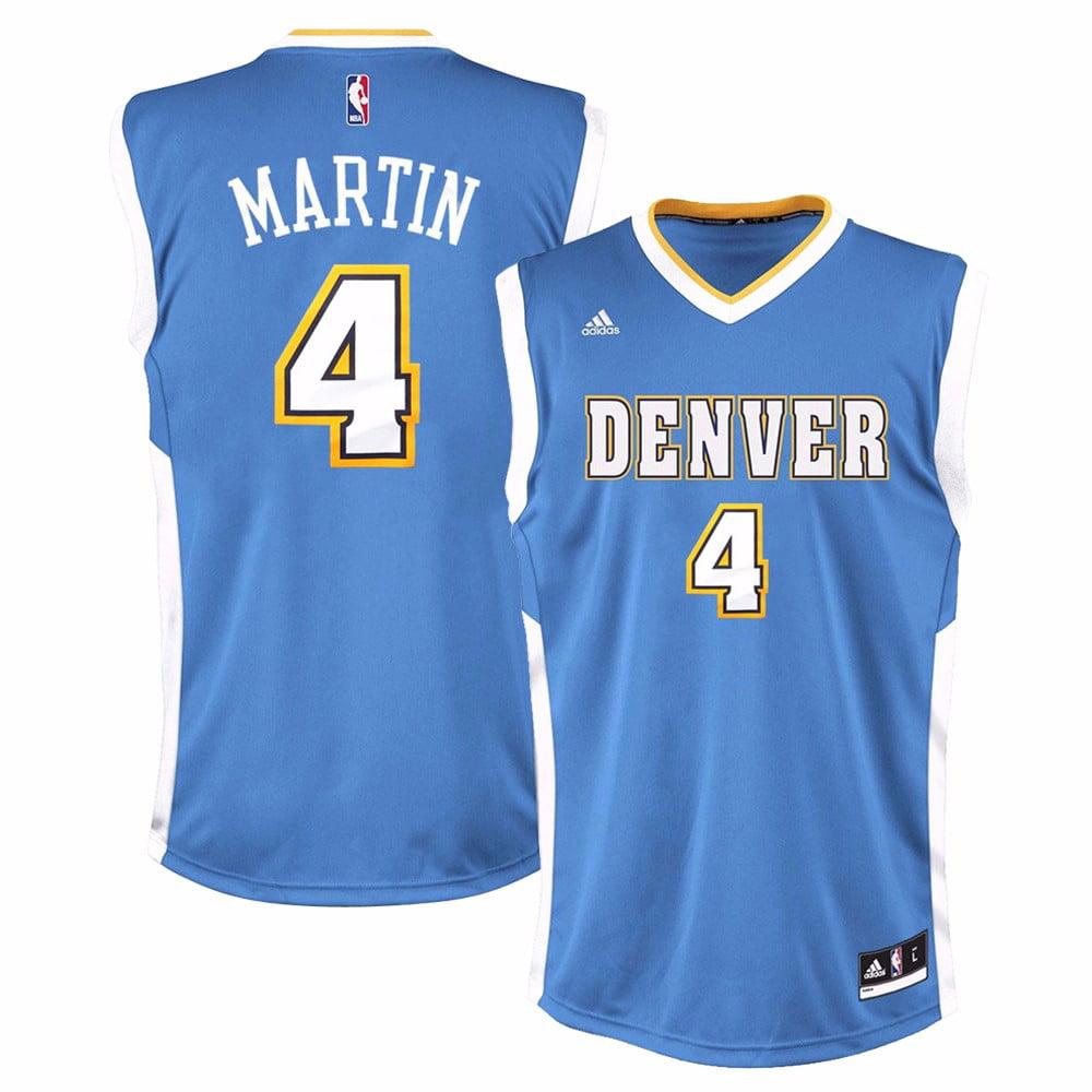 Kenyon Martin Denver Nuggets NBA Adidas Men's Blue Replica Jersey