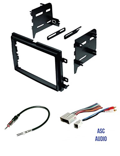 asc audio car stereo radio install dash kit, wire harness, and antenna adapter to install a double din radio for some ford lincoln mercury vehicles Car Stereo Wiring Harness Diagram at Wiring Harness For Car Stereo Walmart