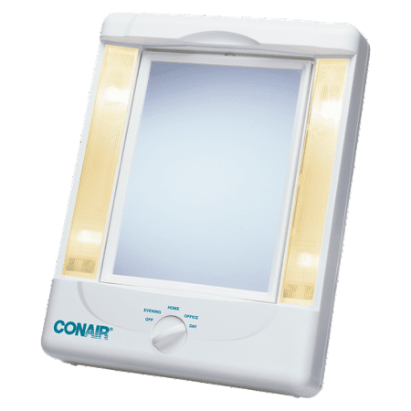Two-Sided Lighted Makeup Mirror with 4 light settings