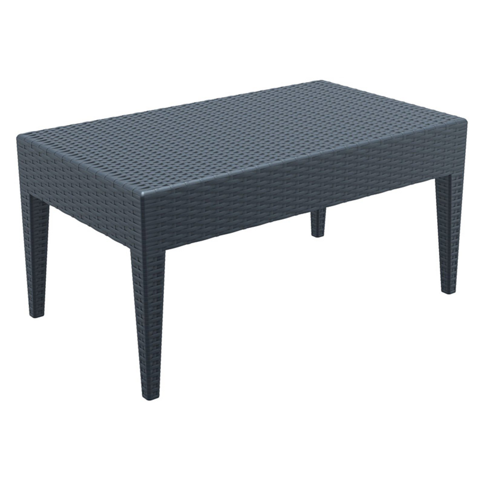 Siesta ISP855 Miami Rectangle Resin Coffee Table by Compamia