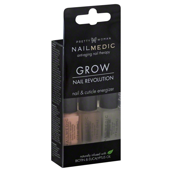 Pretty Woman Nail Medic Nail Revolution Grow 3 x 0.17 fl oz (0.5 fl oz)