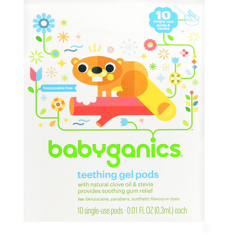 Babyganics Teething Gel Pods, 10 Ct.