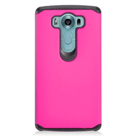 Insten Hard Dual Layer Silicone Case For LG V10 - Hot Pink/Black - image 3 of 3