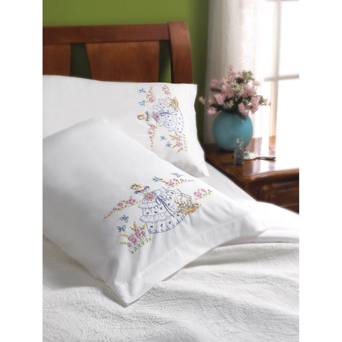 Bucilla Pillowcase Pairs, Garden Girl
