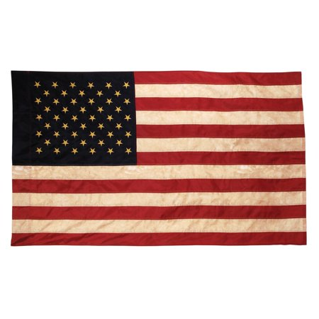 Vintage Look, Tea Stained American Flag (Flags That Look Like The American Flag)