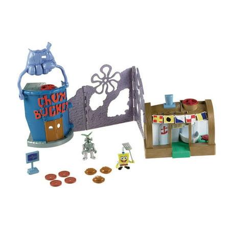 Nickelodeon Fisher Price Imaginext Krusty Krab Playset Walmart Com