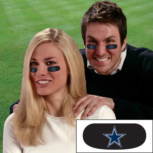 Party Animal Stick-On Eye Black Strips - NFL Dalla