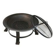 Outdoor Metal Round Firepit Backyard Patio Garden Bon fire heater Pit